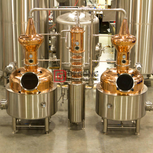 500L Professionelle Customized Copper Vodka Gin Distillery Maschine Destillieren / Destillationsanlagen